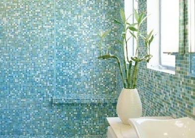 But the most popular way to use glass tile is as mosaic tile. Unless treated, a normal glass tile is no different from polished porcelain tile in terms of skid resistance